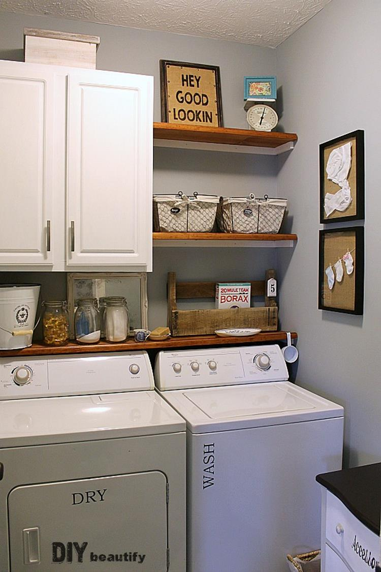 DIY Small Laundry Room Makeovers On a Budget 27