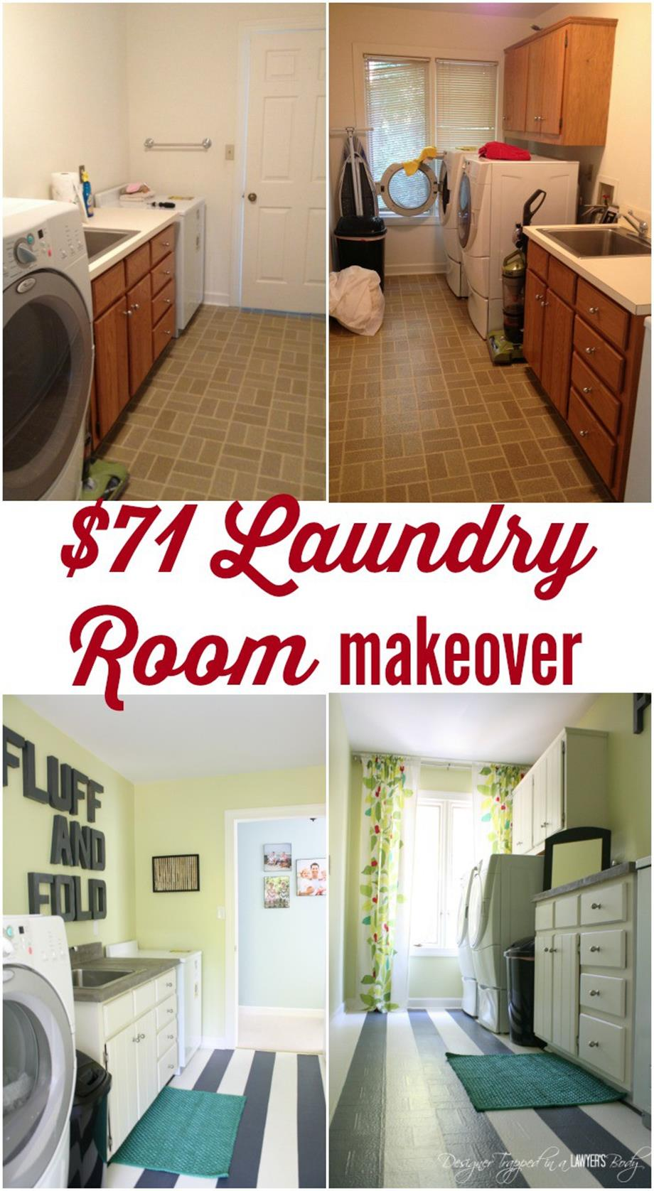7 Small Space Makeovers: DIY Small Laundry Room Makeovers On A Budget 33
