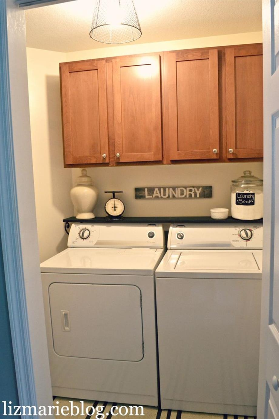 DIY Small Laundry Room Makeovers On a Budget 4