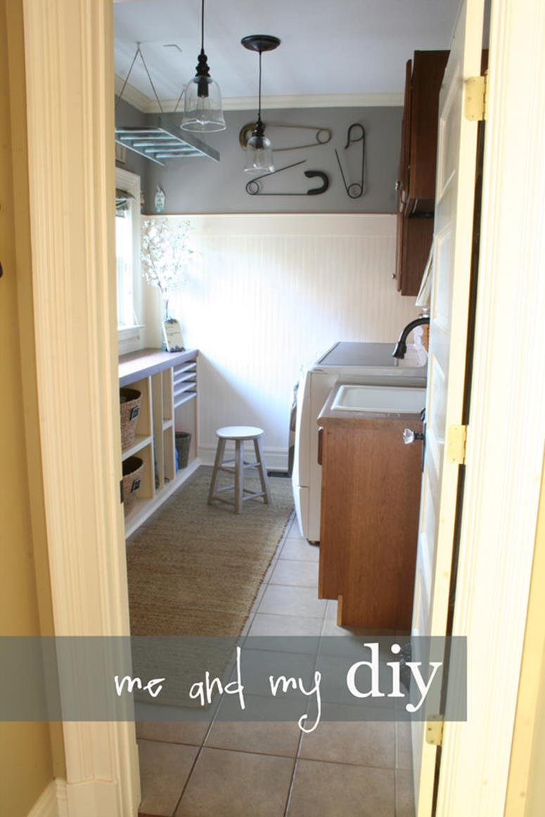 DIY Small Laundry Room Makeovers On a Budget 7