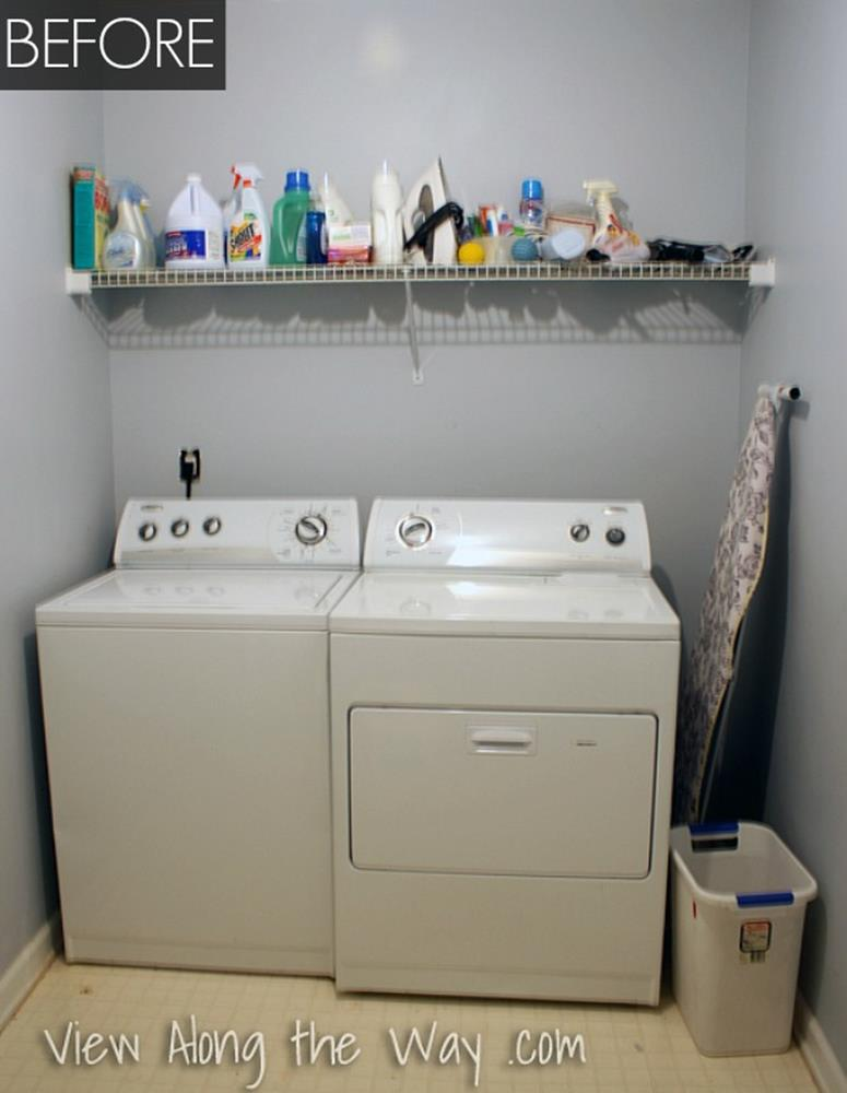 DIY Small Laundry Room Makeovers On a Budget 8