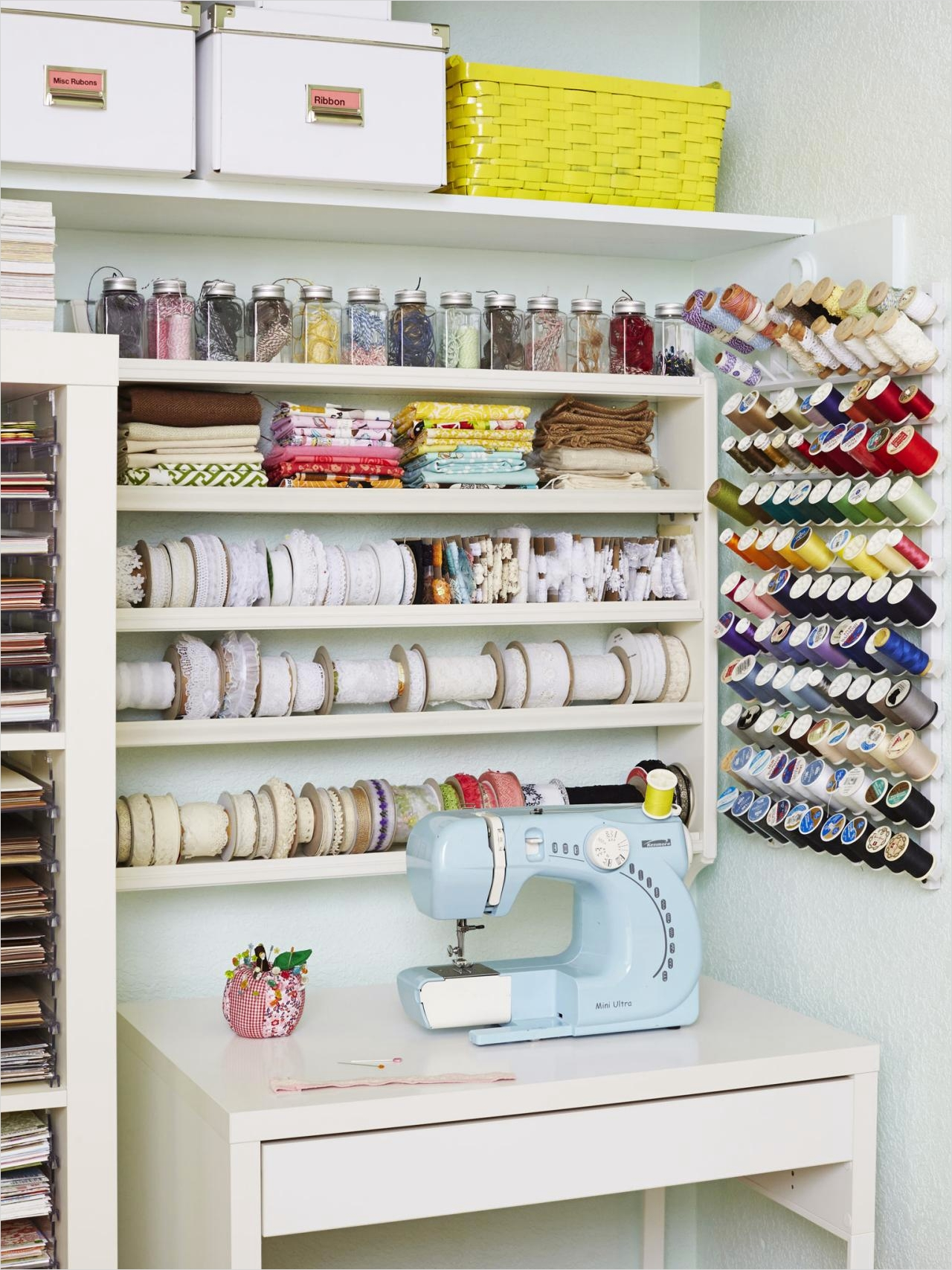 Craft Room Wall Shelving 61 How to Turn Any Space Into A Dream Craft Room Hgtv S Decorating & Design Blog 7