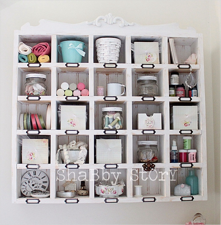 Craft Room Wall Shelving 27 Wall Cubby Shelf for Craft Supplies From Shabby Story where I Create 4