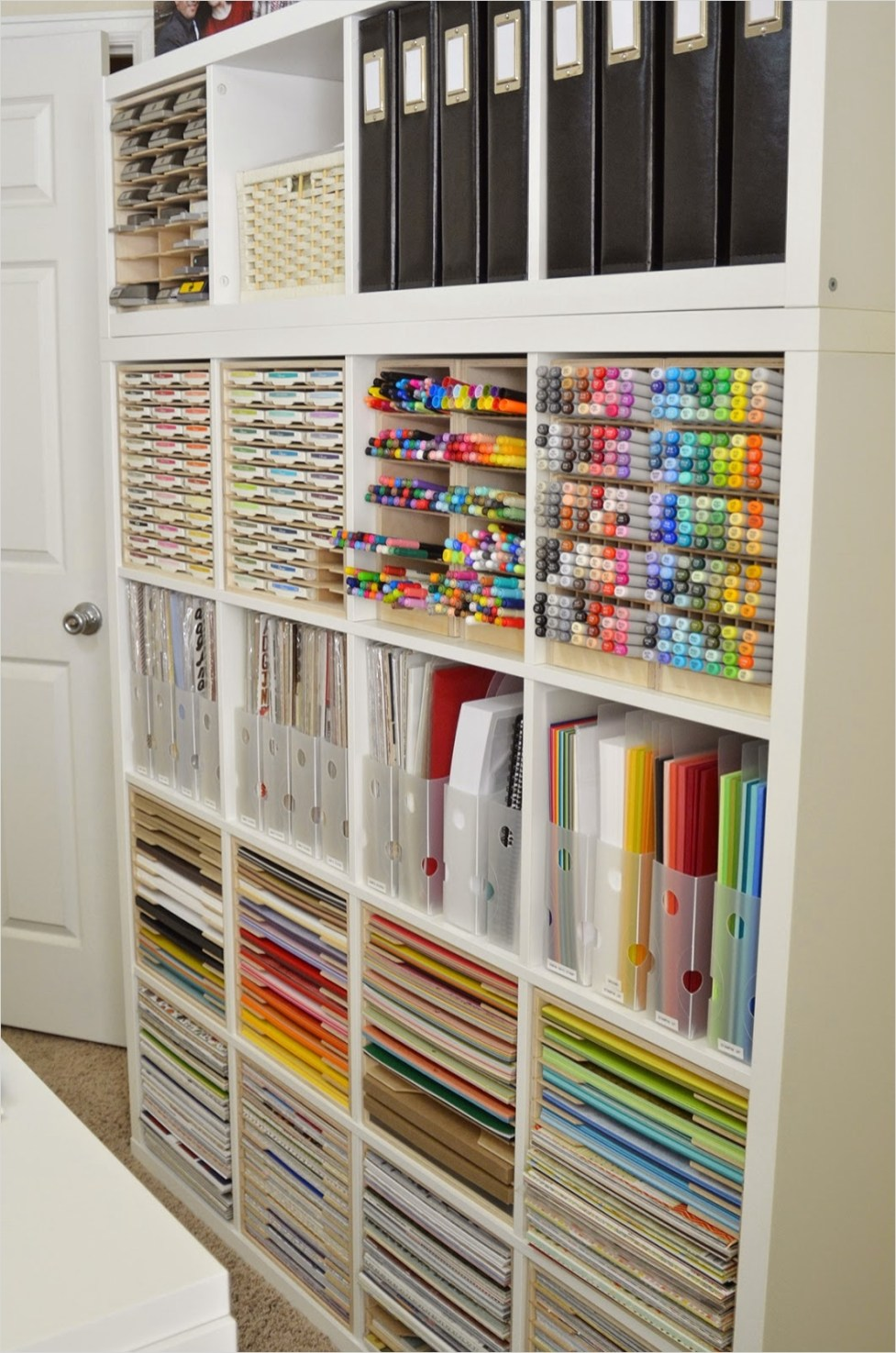 Craft Room Wall Shelving 29 Jeanne S Paper Crafts An Update and A Little Re organization Of My Craft Studio 3