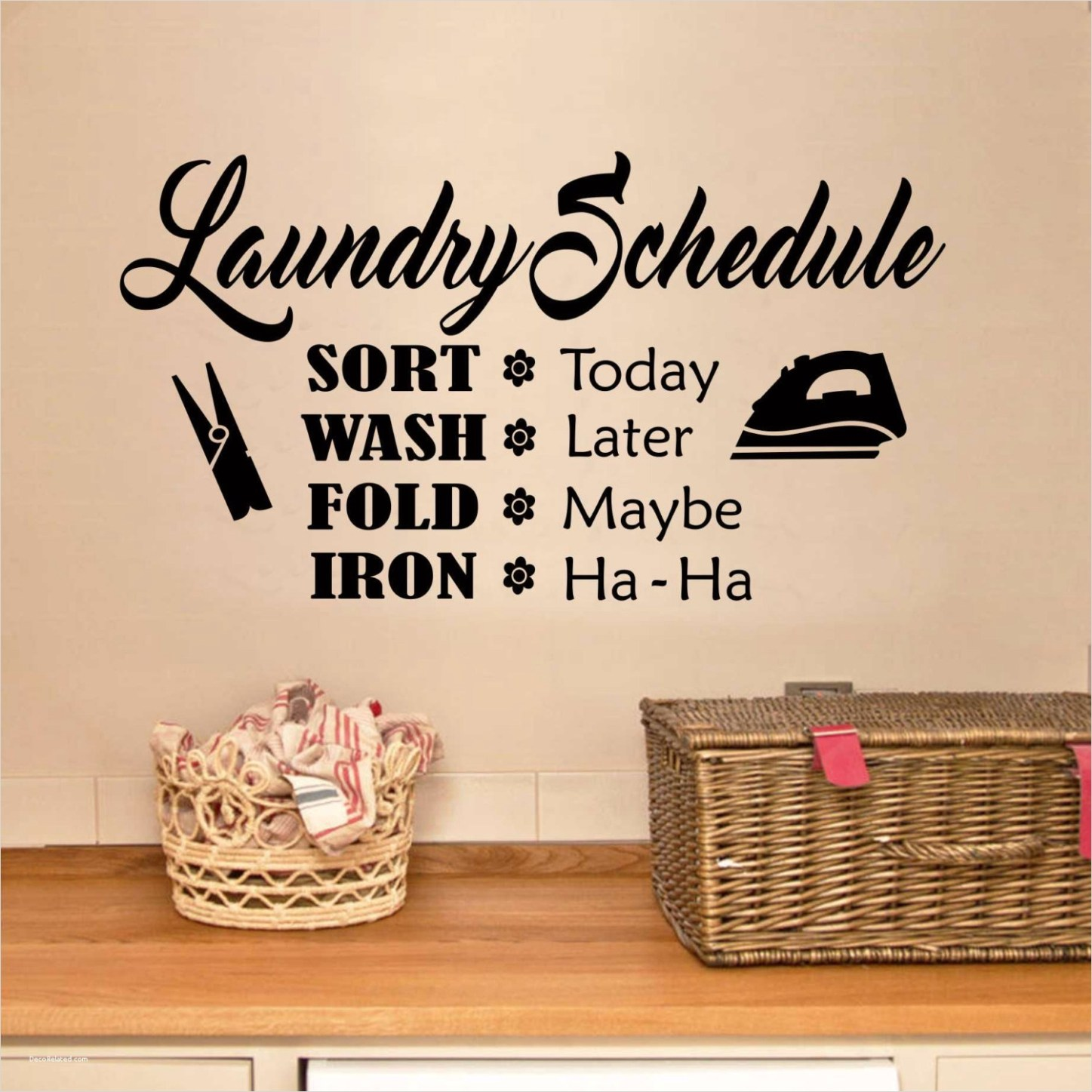 Laundry Room Wall Art Decor Layout 32 Funny Laundry Room Schedule Quote Vinyl Wall Lettering Vinyl 6
