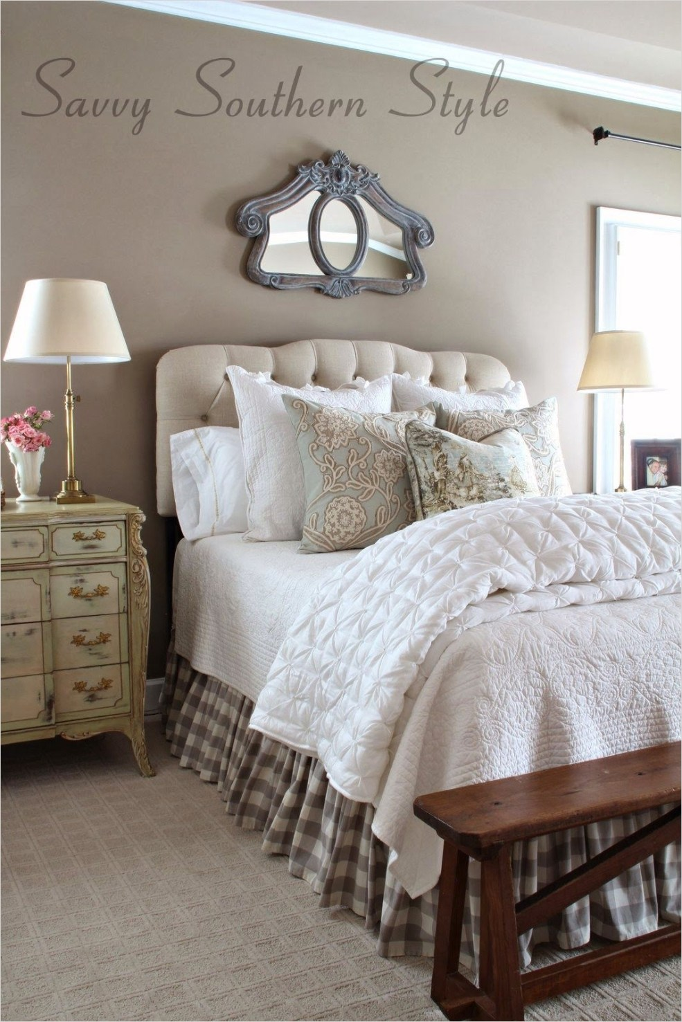 43 Stunning Country Farmhouse Bedroom Ideas 12 Savvy southern Style Adding French Farmhouse Style In the Master 7