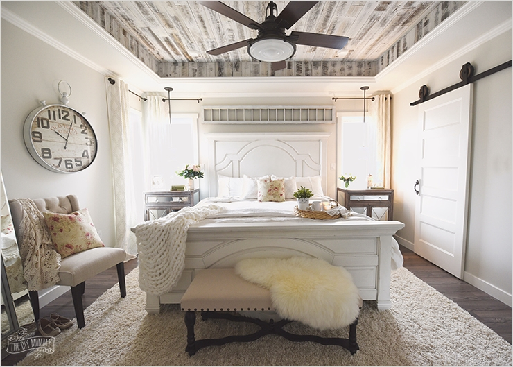 43 Stunning Country Farmhouse Bedroom Ideas 38 Our Modern French Country Master Bedroom – E Room Challenge Reveal 4