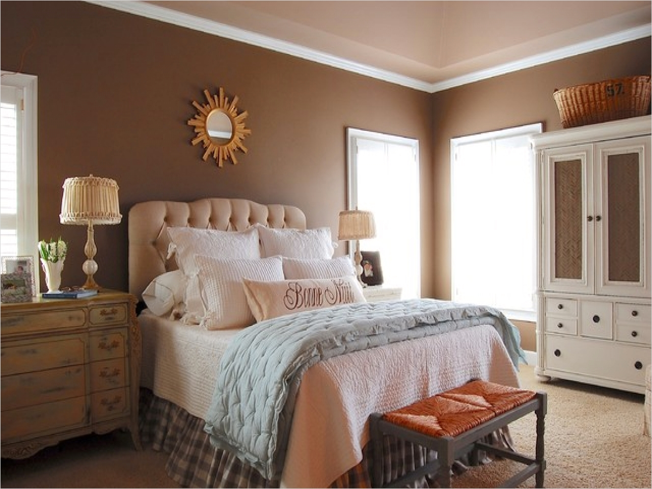 43 Stunning Country Farmhouse Bedroom Ideas 77 Country Bedroom Paint Colors French Country Farmhouse Bedroom Colors French Country Farmhouse 5
