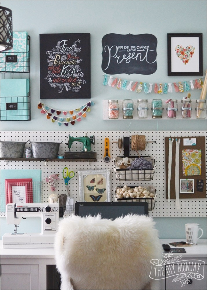 42 Amazing Diy Craft Room Gallery Wall 99 A Craft Room Fice Pegboard Gallery Wall with Video tour 8