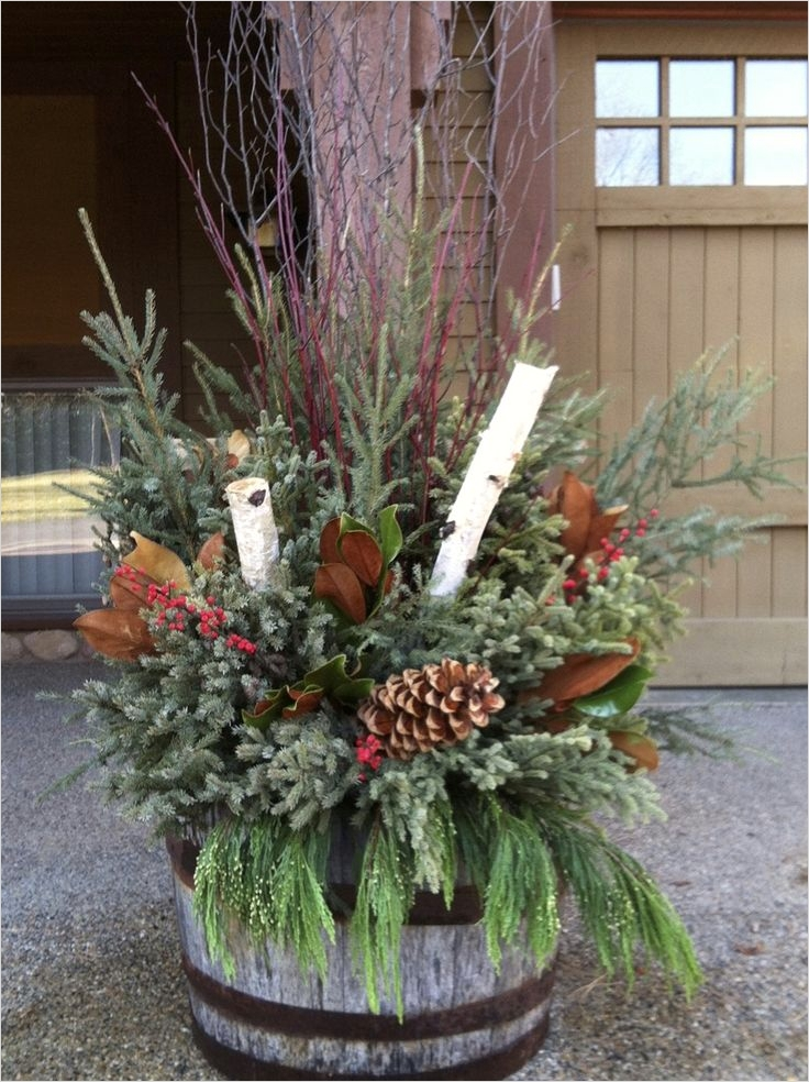 42 Beautiful Christmas Outdoor Pot Decorations Ideas 25 17 Best Images About Winter Holiday Ideas On Pinterest 8