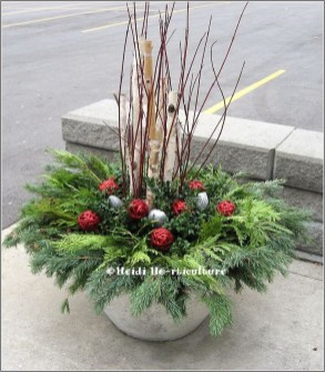 42 Beautiful Christmas Outdoor Pot Decorations Ideas 99 624 Best Images About Winter Containers On Pinterest 3