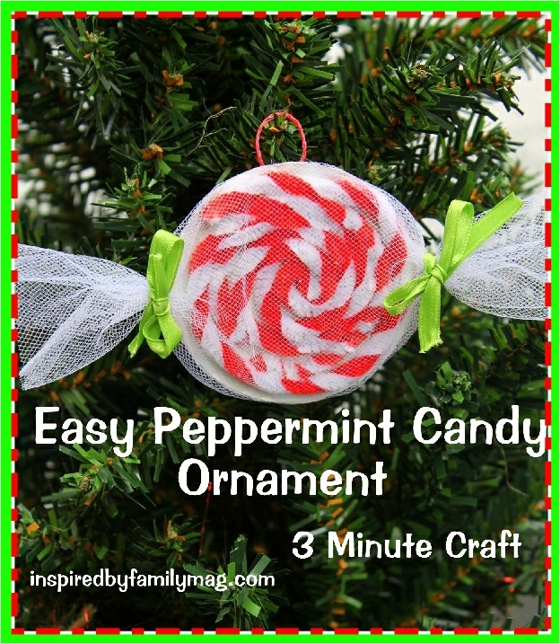40 Diy Easy Christmas ornament Crafts Ideas 84 Easy Christmas ornament Craft Peppermint Candy Inspired by Family 1