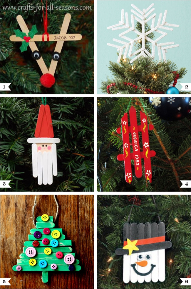 40 Diy Easy Christmas ornament Crafts Ideas 28 Diy Popsicle Stick ornaments Plus A Tree topper too 6