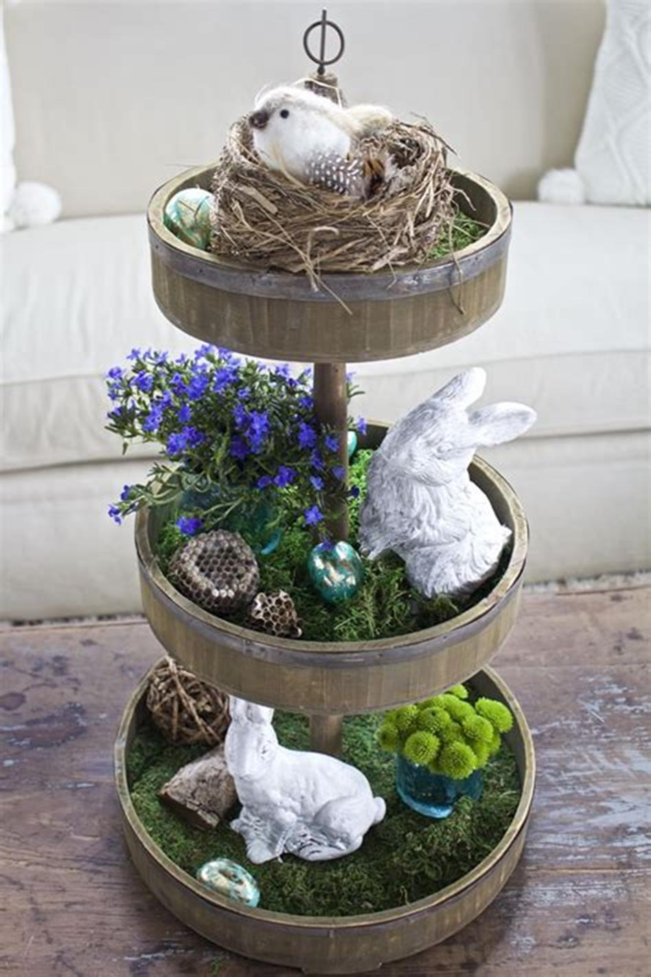 40 Creative Spring Decor Tiered Tray Ideas 29 Decorelated