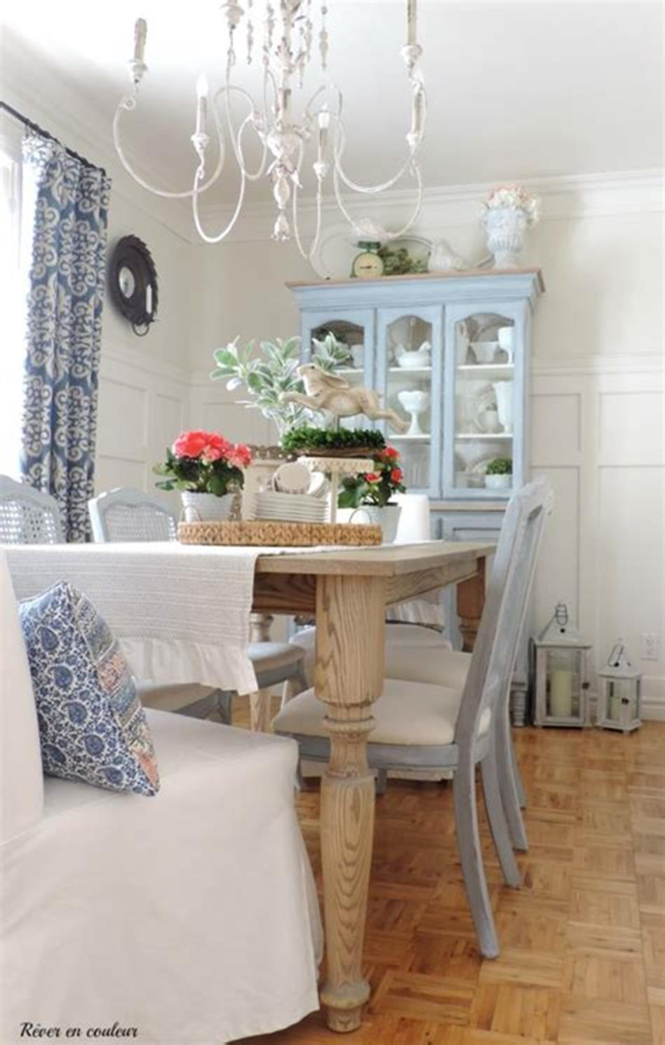 35 Stunning Spring Kitchen and Dining Room Decorating Ideas 2019 26