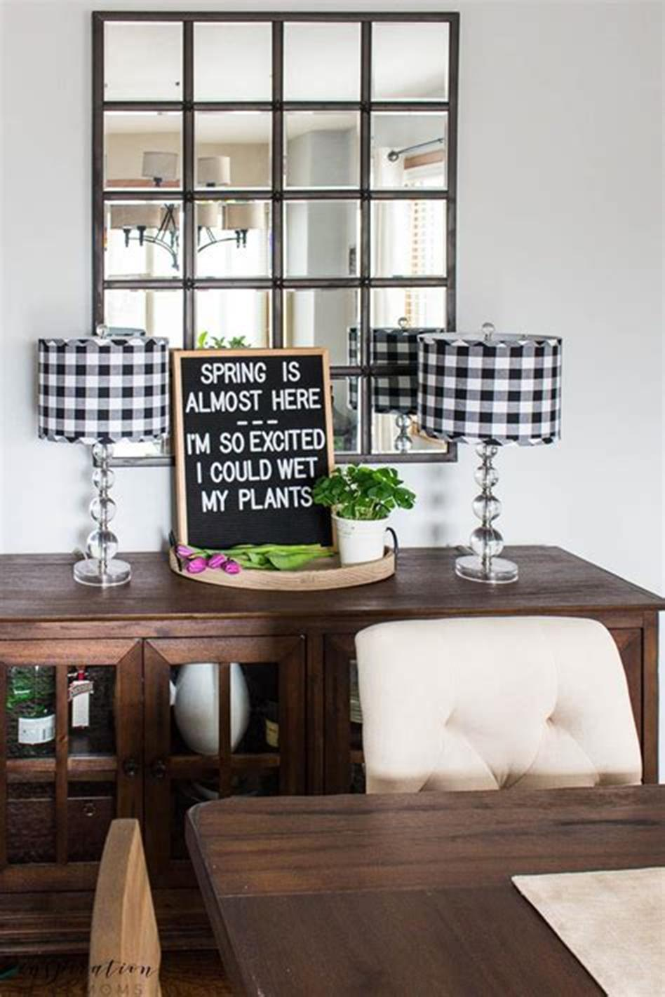 35 Stunning Spring Kitchen and Dining Room Decorating Ideas 2019 3