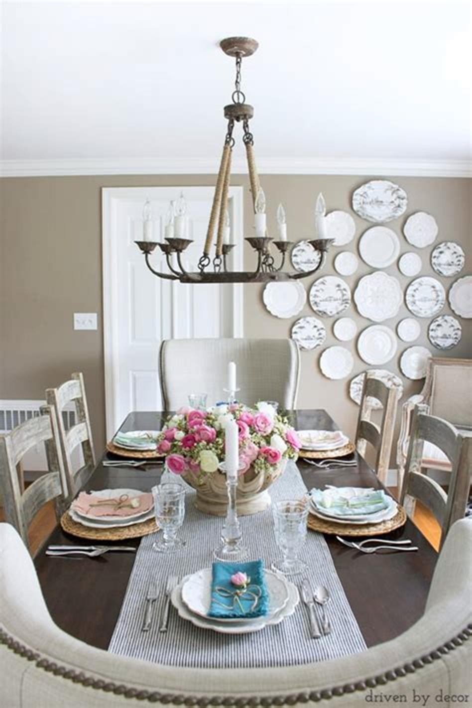 35 Stunning Spring Kitchen and Dining Room Decorating Ideas 2019 30