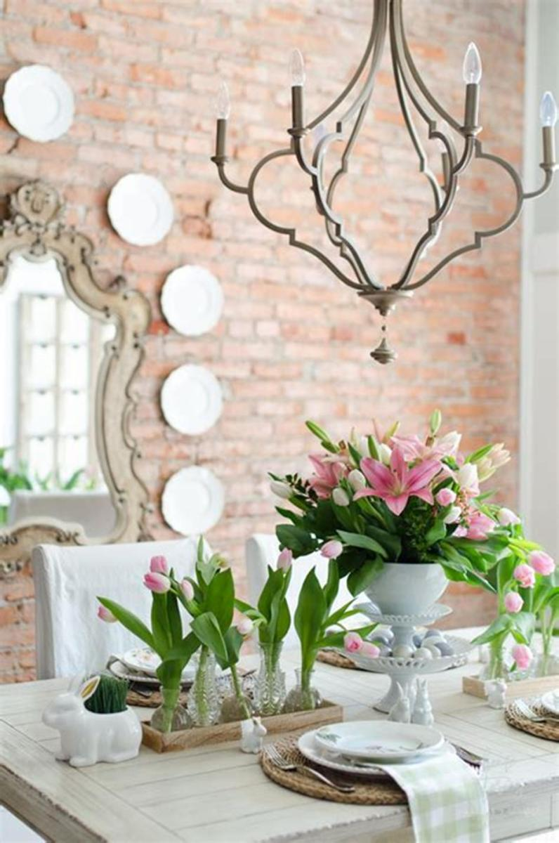 35 Stunning Spring Kitchen and Dining Room Decorating Ideas 2019 42