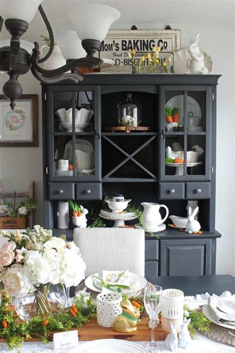 35 Stunning Spring Kitchen and Dining Room Decorating Ideas 2019 6