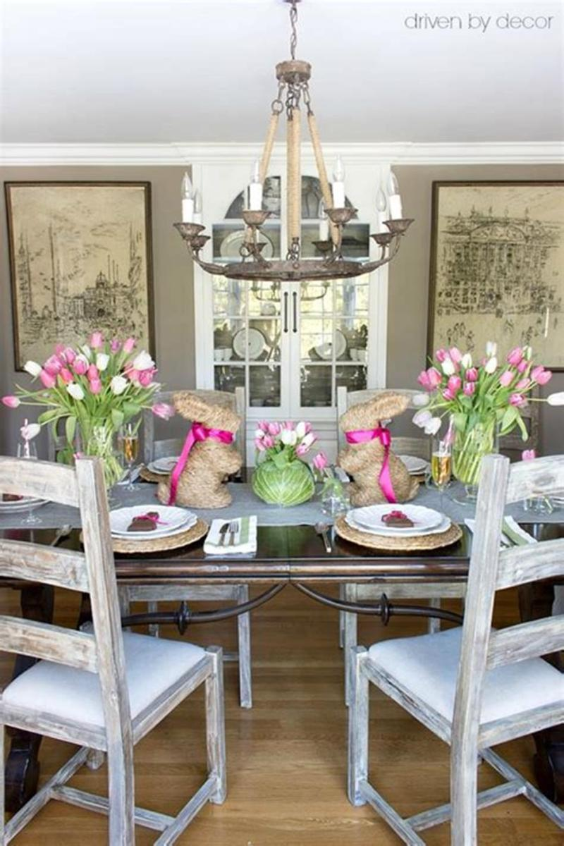 40 Beautiful DIY Easter Table Decorating Ideas for Spring 2019 22