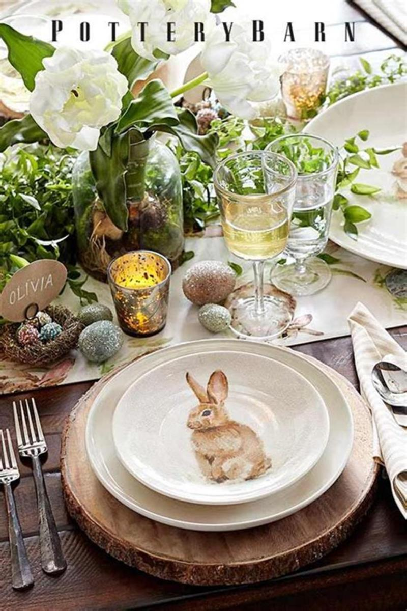 40 Beautiful DIY Easter Table Decorating Ideas for Spring 2019 46