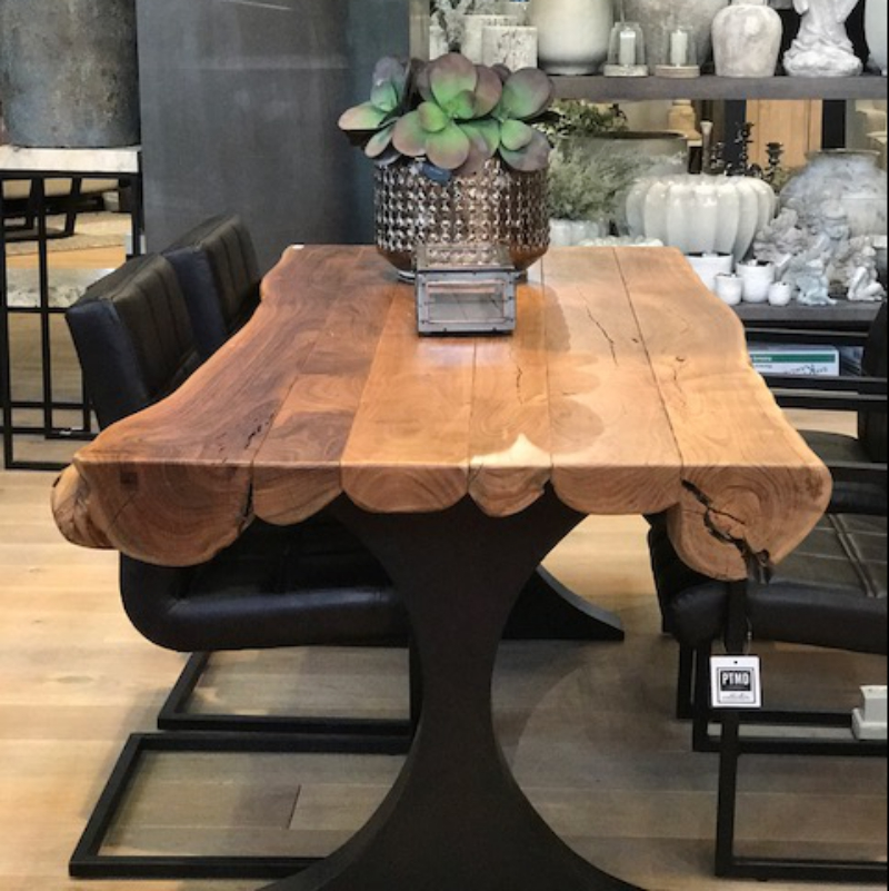 table a manger bois massif tronc d arbre decorelie de l art a la deco