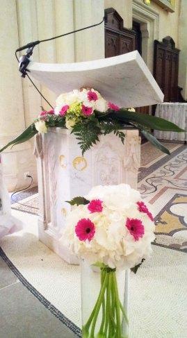 Bouquets de l'église
