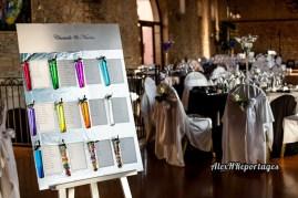 Décoration de la salle et plan de table haut en couleurs