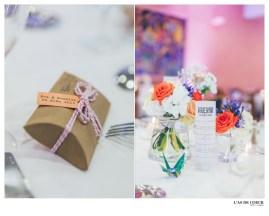 Création de ballotins de dragées et décoration de tables
