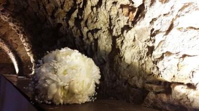 Bouquet de la mariée, pivoines et gypsophile
