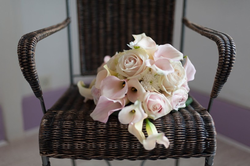 Bouquet graphique pastel