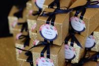Réalisation des cadeaux invités glitter et bleu nuit