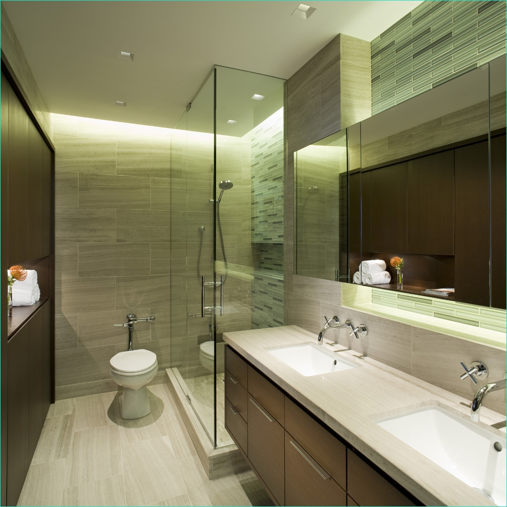 Master Bathroom Light Remodel 16 Cool Cutting Glass Tile Decorating Ideas 9