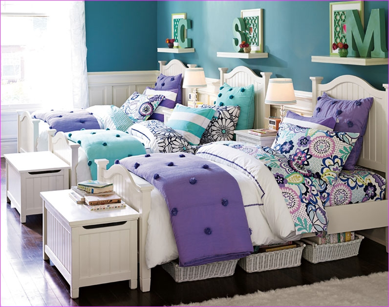Cute Mix Color Bedrooms for Teenage Girls 57 Cute for Twins or Triplets Teenage Girl Bedroom Ideas D Bedroom 3