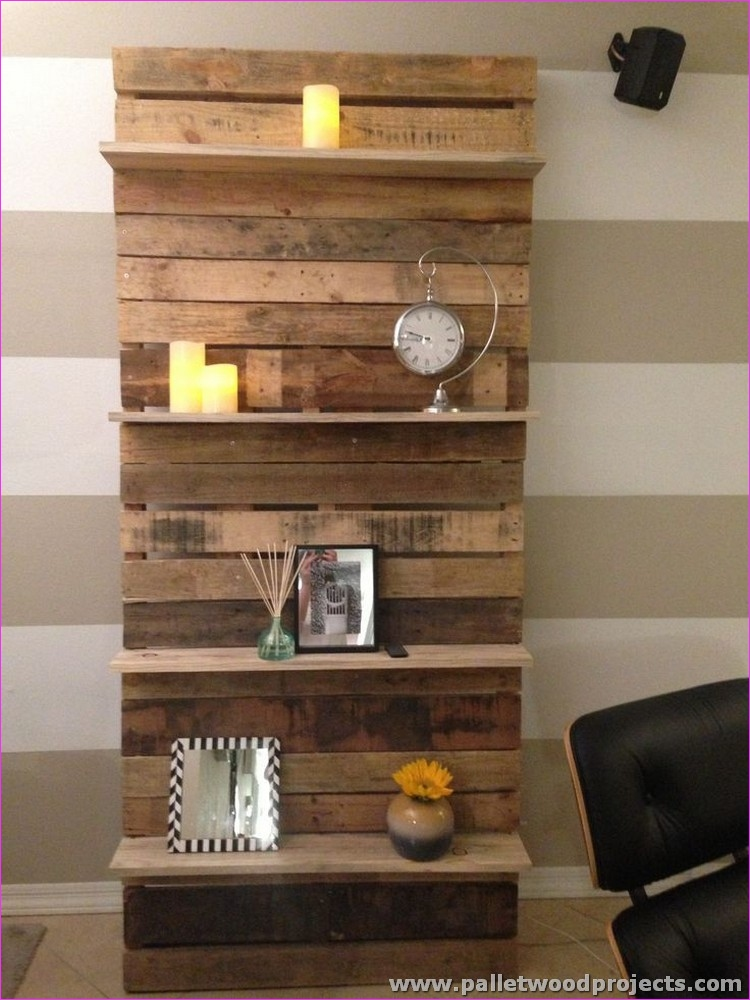 Wall Display Shelving Ideas 66 Shelves Made with Wood Pallets 6
