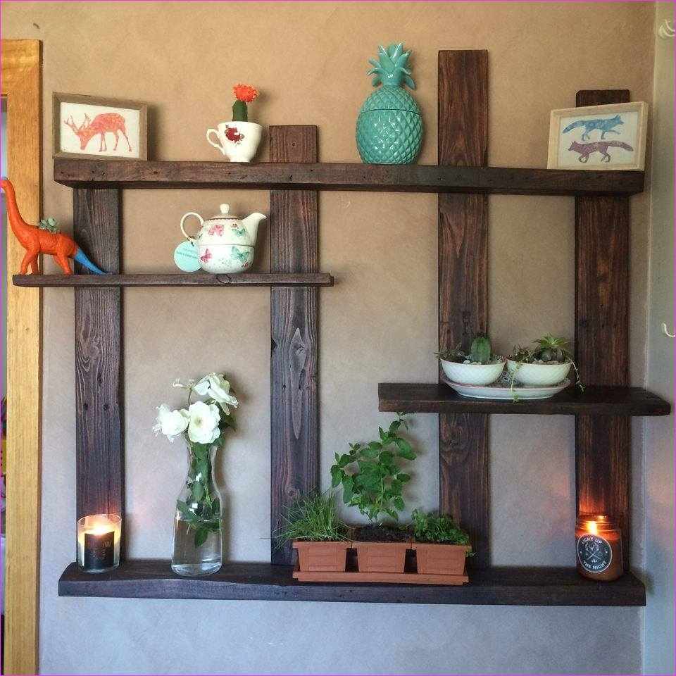 Wall Display Shelving Ideas 13 Pallet Shelf for Wall Decor 5
