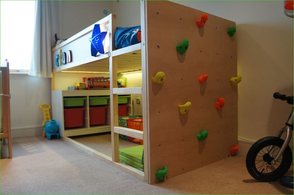 Ikea Kura Beds Kids Room 88 Kura Bed with Climbing Wall 7