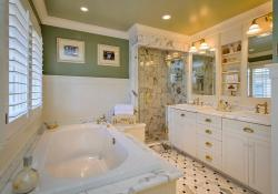 Beautiful Gold and White Bathroom 14