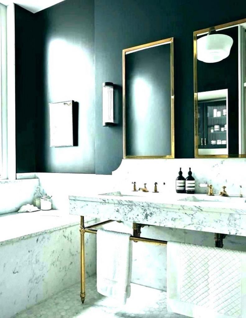 Beautiful Gold and White Bathroom 21