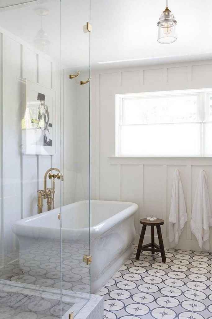 Beautiful Gold and White Bathroom 25