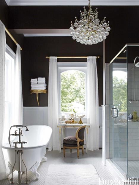 Beautiful Gold and White Bathroom 28
