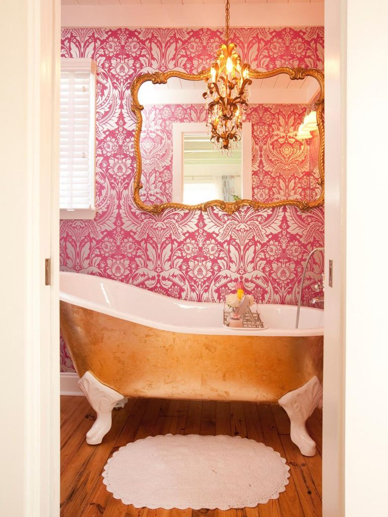 Beautiful Gold and White Bathroom 29
