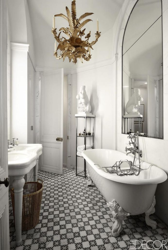 Beautiful Gold and White Bathroom 7