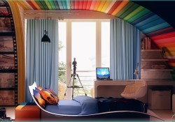 Rainbow theme toddler Room 92 Colorful Kids Rooms 9