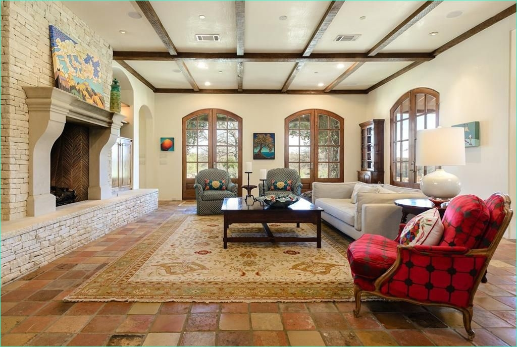 Terracotta Tiles Interior Design 22 Mediterranean Living Room with Carpet & Stone Fireplace In Roanoke Tx Zillow Digs 5