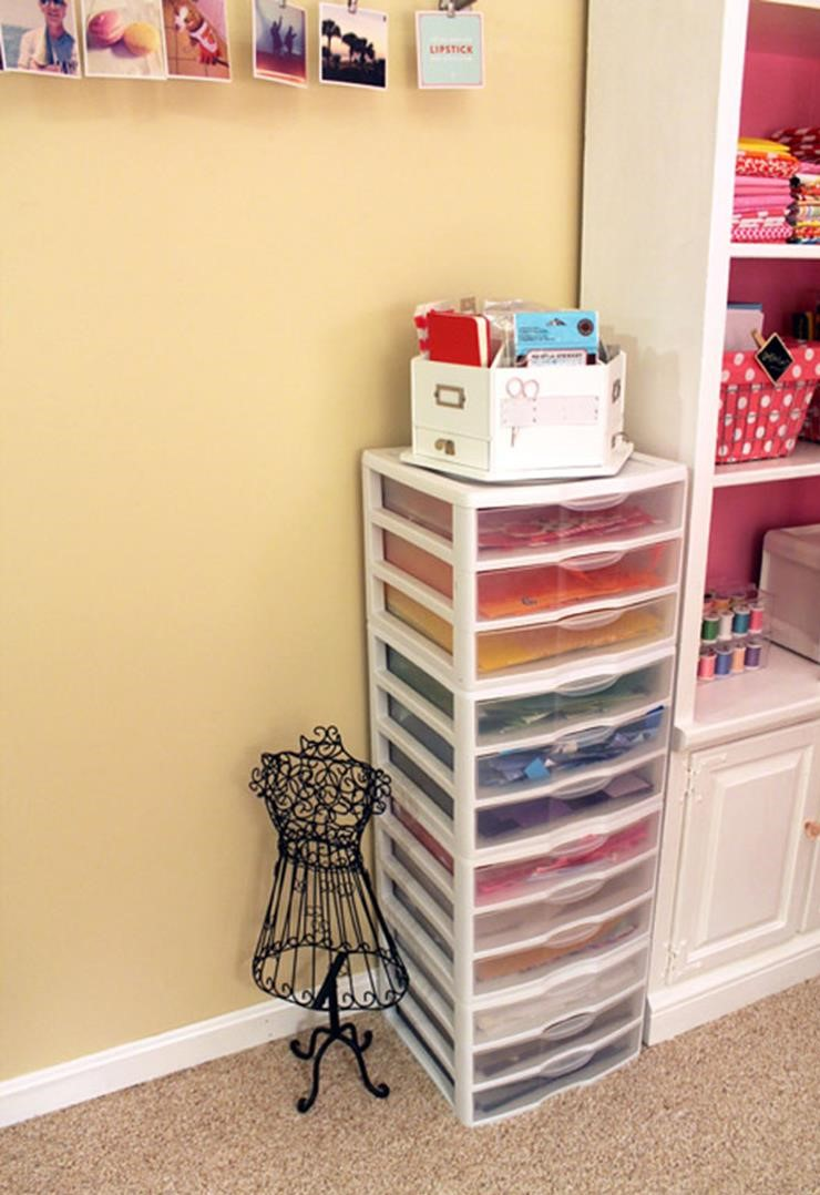 Craft Room Paper Storage 16