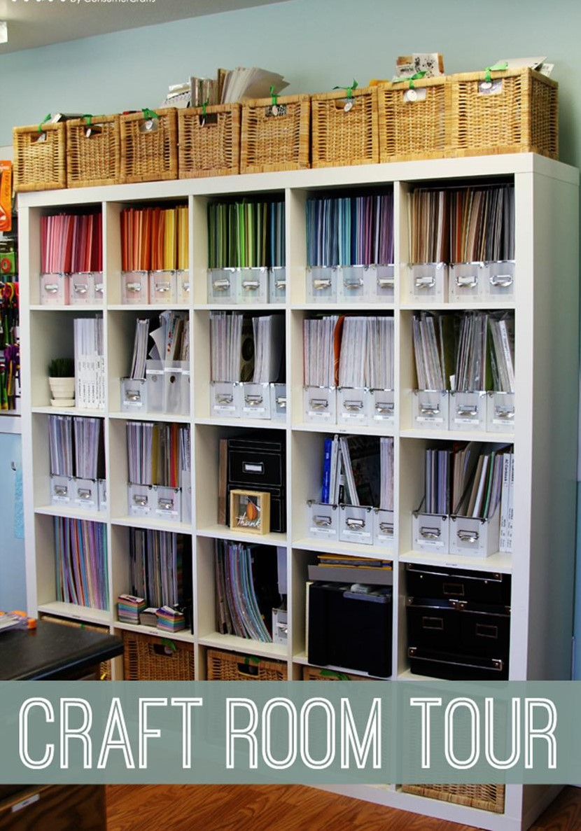 Craft Room Paper Storage 17