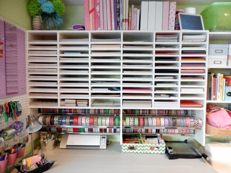 Craft Room Paper Storage 18