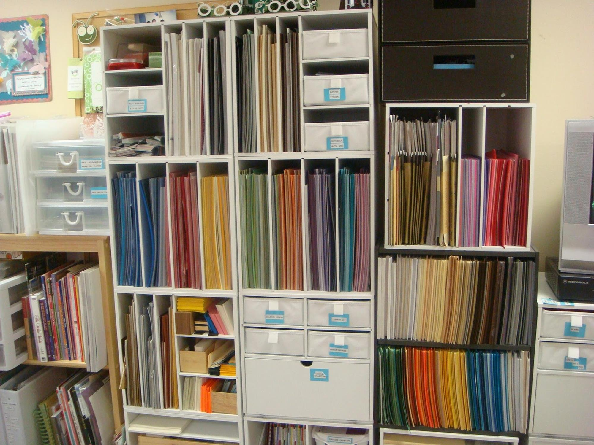 Craft Room Paper Storage 22