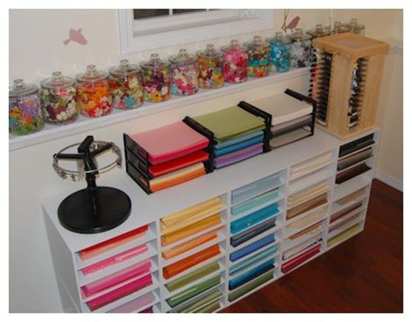 Craft Room Paper Storage 6